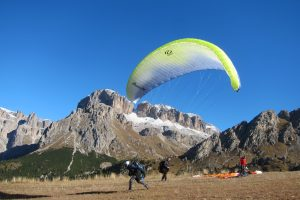 Vliegen in de Dolomieten