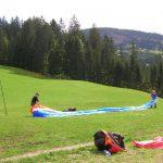 Paragliding opleiding voor beginners oefenhelling
