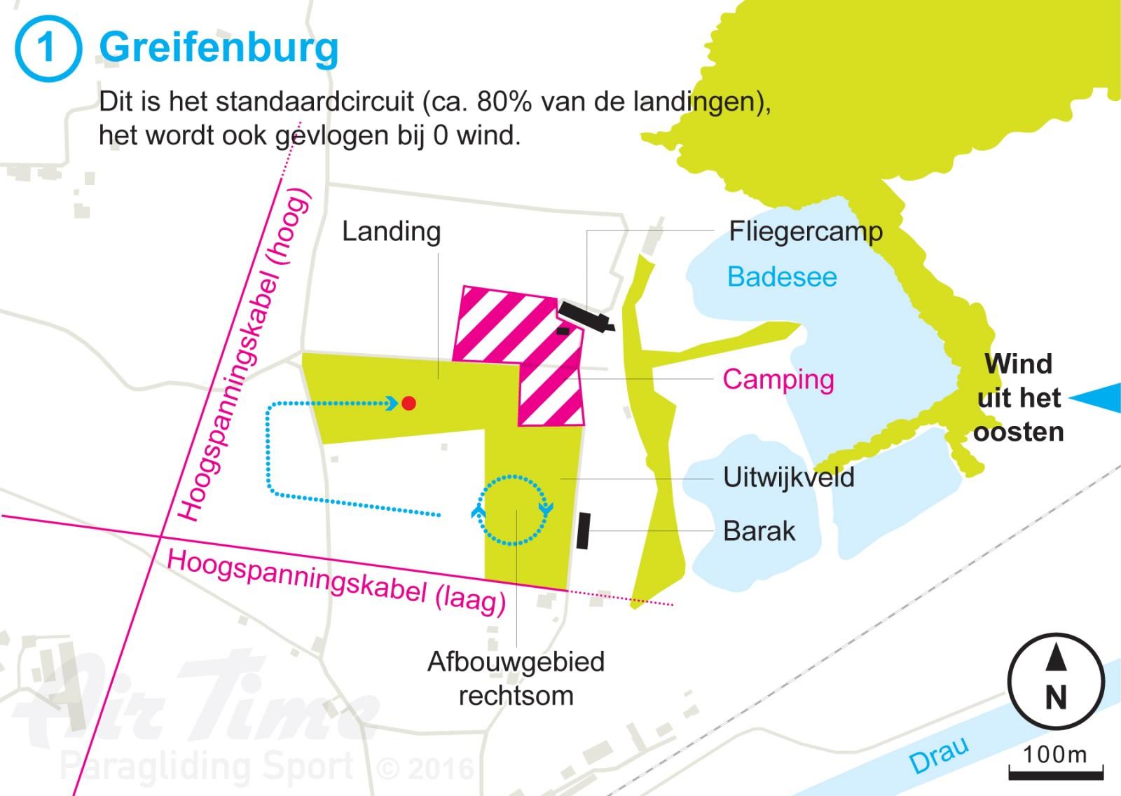 Air Time Paragliding Sport Circuit Landing Greifenburg oostwind